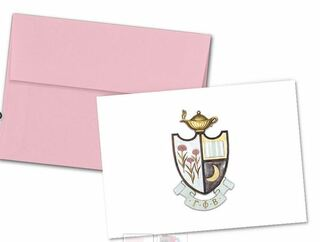 Gamma Phi Beta Color Crest - Shield Notecards(6)
