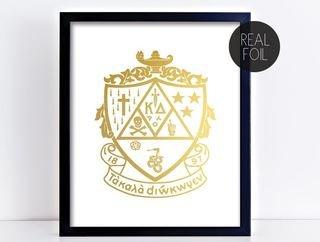 Kappa Delta Crest - Shield Foil Print