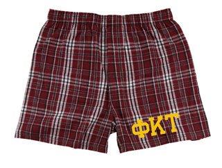 Phi Kappa Tau Flannel Boxer Shorts