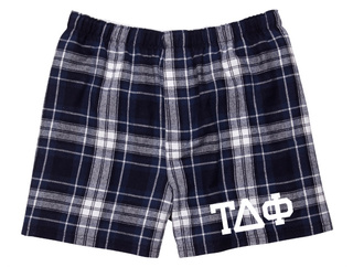 Tau Delta Phi Flannel Boxer Shorts