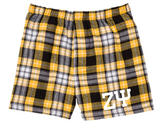 Zeta Psi Flannel Boxer Shorts
