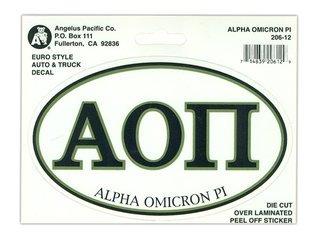 Alpha Omicron Pi Euro Style Sticker