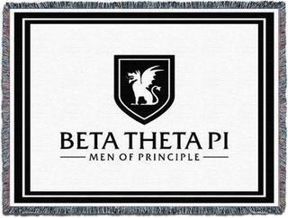 """Beta Theta Pi """"Men Of Principle"""" Blanket Throw"""