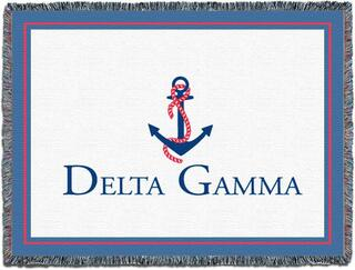Delta Gamma Blanket Throw