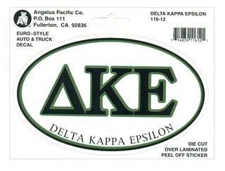 Delta Kappa Epsilon Euro Decal Oval Sticker