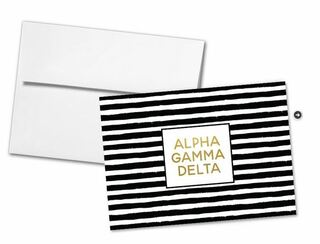 Alpha Gamma Delta Striped Notecards(6)
