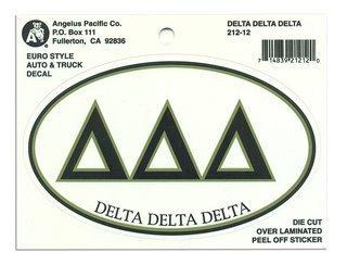 Delta Delta Delta Euro Style Sticker