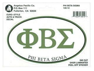 Phi Beta Sigma Euro Decal Oval Sticker
