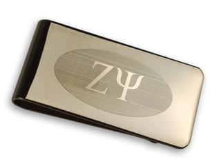 Zeta Psi Gold Plated Money Clips