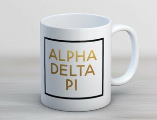 Alpha Delta Pi Faux Foil Coffee Mug