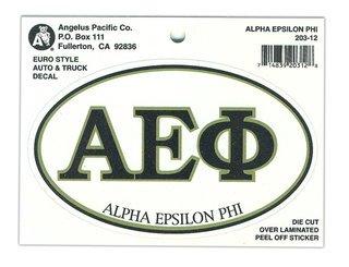 Alpha Epsilon Phi Euro Style Sticker