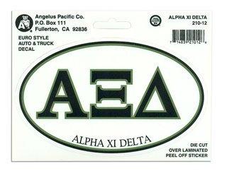 Alpha Xi Delta Euro Style Sticker
