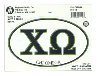 Chi Omega Euro Style Sticker