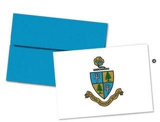 Delta Delta Delta Color Crest - Shield Notecards(6)