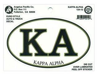 Kappa Alpha Euro Decal Oval Sticker