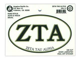 Zeta Tau Alpha Euro Style Sticker