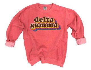 Delta Gamma Retro Maya Comfort Colors Crewneck Sweatshirt