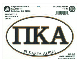 Pi Kappa Alpha Euro Decal Oval Sticker
