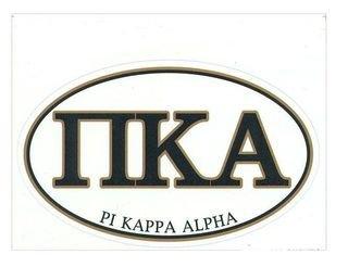 Pi Kappa Alpha Euro Decal Oval Sticker
