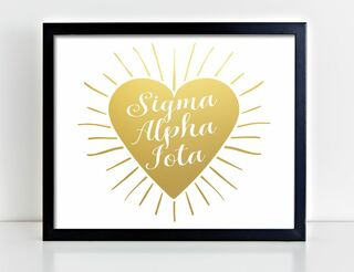 Sigma Alpha Iota Heart Burst Foil Print