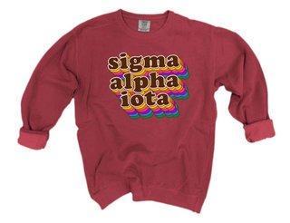 Sigma Alpha Iota Retro Maya Comfort Colors Crewneck Sweatshirt