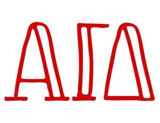 Alpha Gamma Delta Carson Greek Sticker