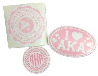 Alpha Kappa Alpha Sorority Sticker Collection - SAVE!
