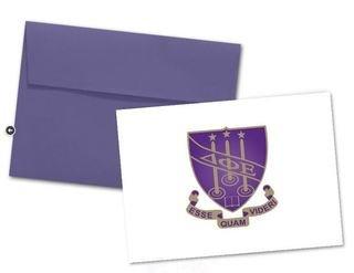 Delta Phi Epsilon Color Crest - Shield Notecards(6)