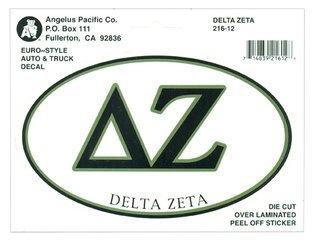 Delta Zeta Euro Style Sticker