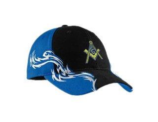 DISCOUNT-Mason / Freemason Colorblock Racing Cap with Flames
