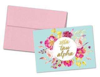 Zeta Tau Alpha Floral Spray Notecards(6)