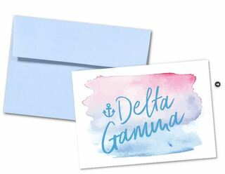 Delta Gamma Watercolor Script Notecards(6)