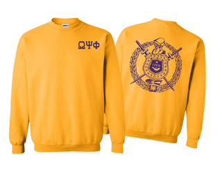 Omega Psi Phi World Famous Crest - Shield Crewneck Sweatshirt- $25!