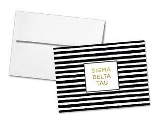 Sigma Delta Tau Striped Notecards(6)