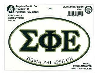 Sigma Phi Epsilon Euro Decal Oval Sticker