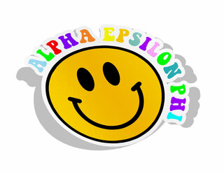 Alpha Epsilon Phi Smiley Face Decal Sticker