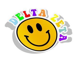 Delta Zeta Smiley Face Decal Sticker