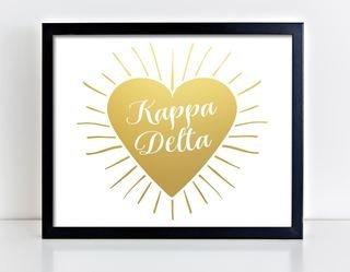 Kappa Delta Heart Burst Foil Print