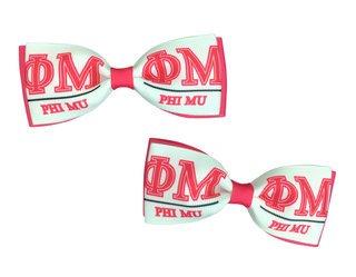 Phi Mu Bows (Set of 2)