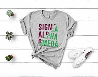 Sigma Alpha Omega Ripped Favorite T-Shirt