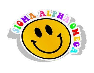Sigma Alpha Omega Smiley Face Decal Sticker