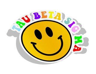 Tau Beta Sigma Smiley Face Decal Sticker