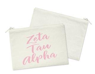 Zeta Tau Alpha Script Cosmetic Bag