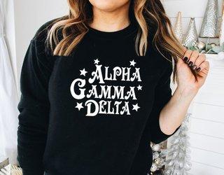Alpha Gamma Delta Comfort Colors Old School Custom Crew