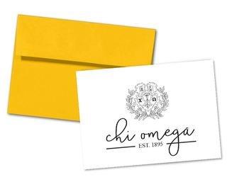 Chi Omega Established Notecards(6)