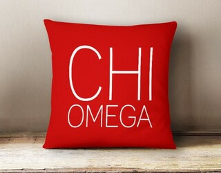 Chi Omega Simple Pillow
