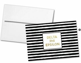 Delta Phi Epsilon Striped Notecards(6)