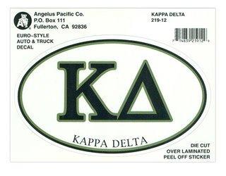 Kappa Delta Euro Style Sticker