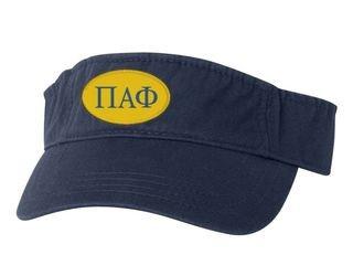 Pi Alpha Phi Greek Oval Heavy Visor