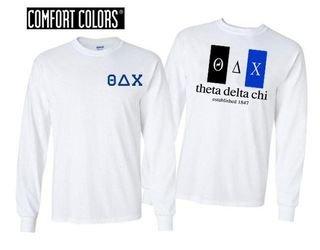 Theta Delta Chi Flag Long Sleeve T-shirt - Comfort Colors
